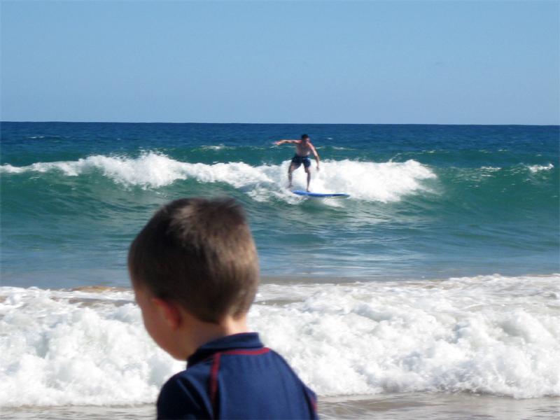 Jesse surfing